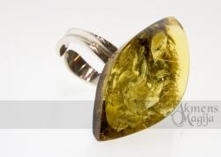 Gintarinis žiedas GINTĖ