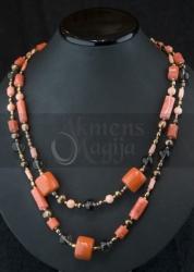 Koralų, dūminio kvarco ir perlų vėrinys  TALASA