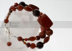 Koralų, jaspio, granatų, karneolio ir perlų apyrankė KALISTA