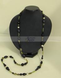 Peridoto, onikso ir perlų vėrinys VINCENTA